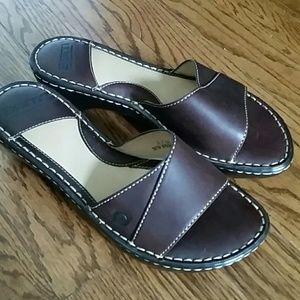 NWOT Born Leather Slide Sandals